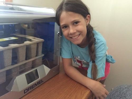 Jordan and her new printer