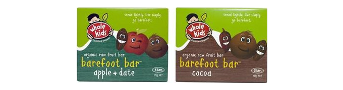 Whole Kids Raw fruit barefoot bar