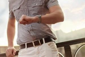 a man wearing a timepiece