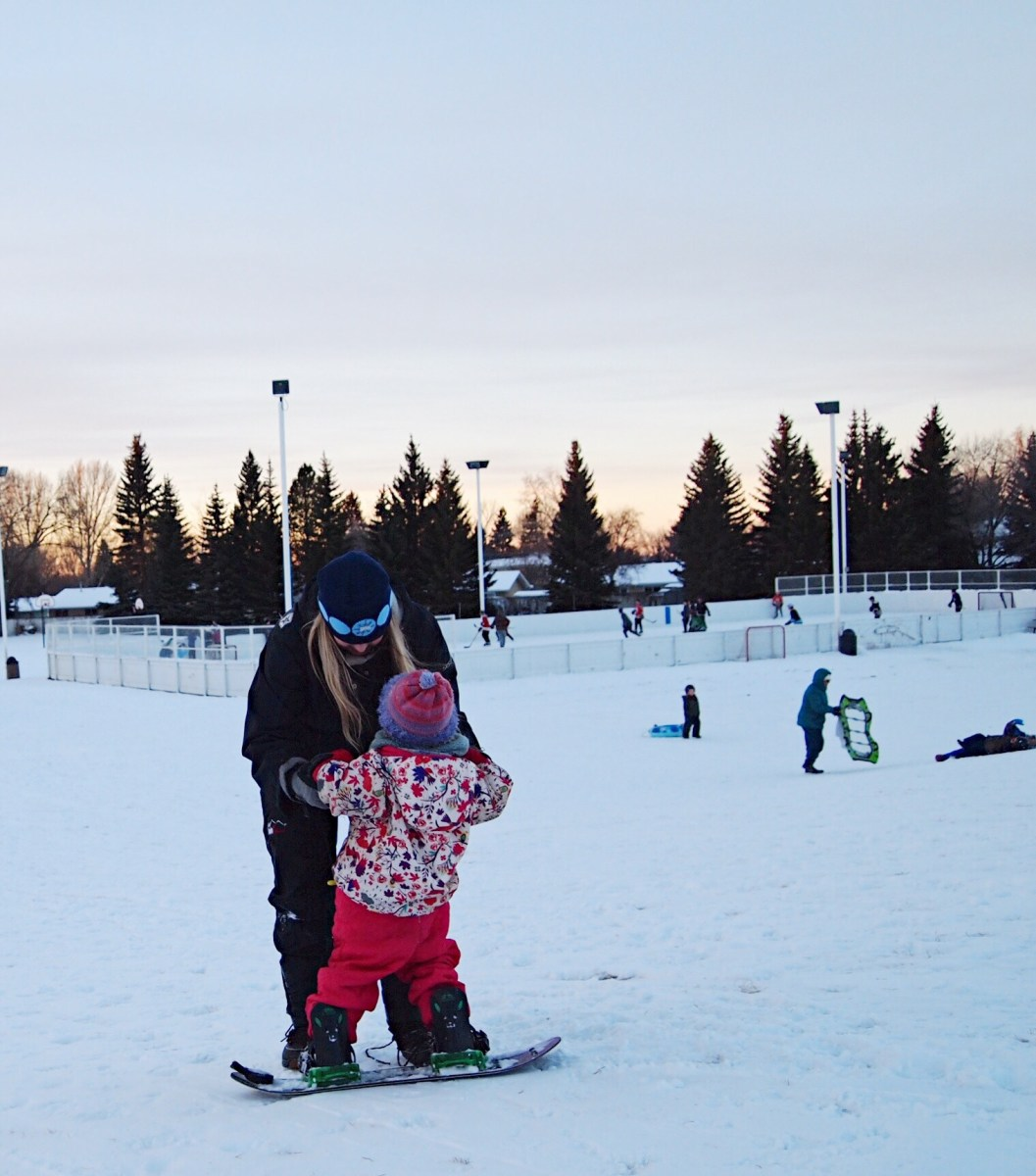 Teaching a Toddler to Snowboard : Getting Started