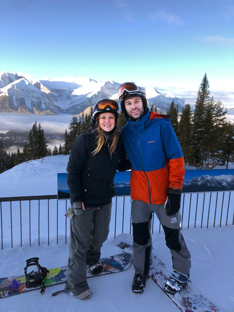 snowboarding lake louise ski resort family