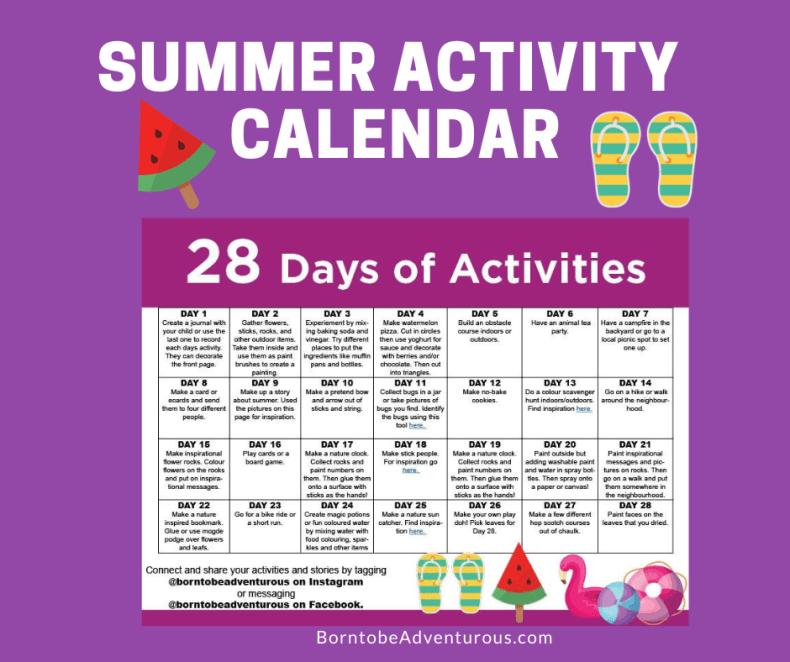 Summer 28 Days of Activities