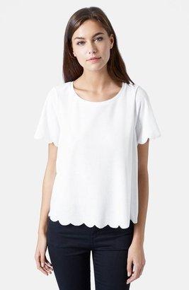 Summer Edit - Topshop Scallop Frill Tee