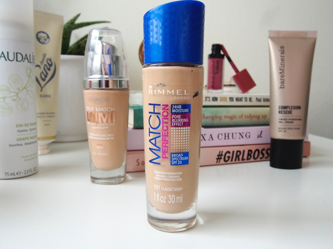 3 Summer Bases - Rimmel Match Perfection