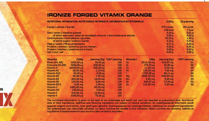 ironize vitamix voedingswaarde
