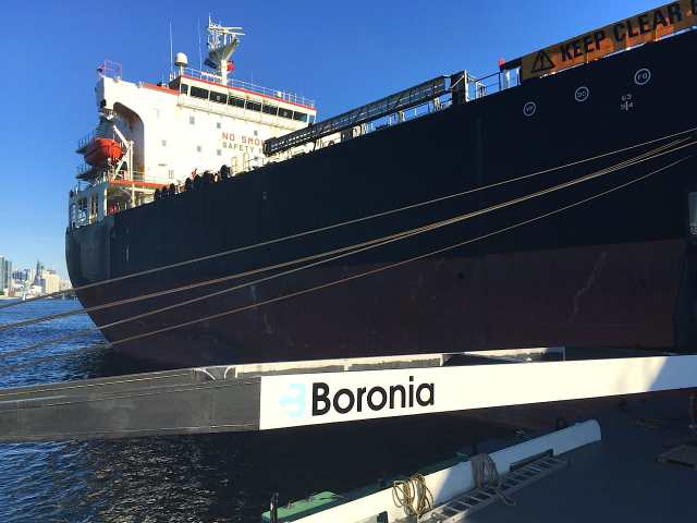 Barge delivery of Ship Stores to MV Adriatic | Boronia Marine Co