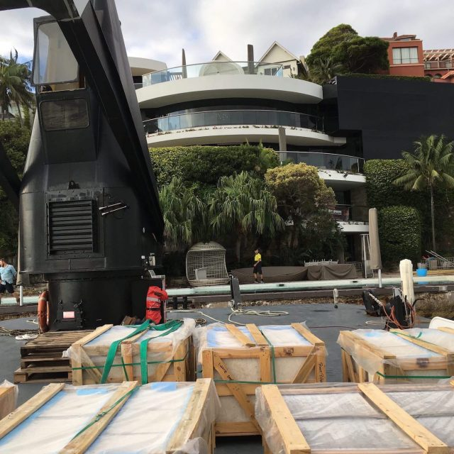 Barge hire waterfront delivery to Point Piper