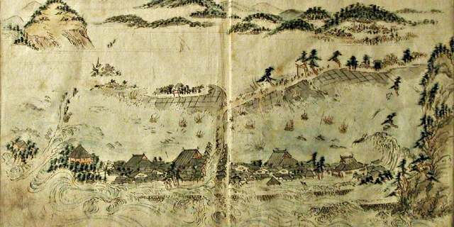 広村を襲う安政南海地震津波(1854年)