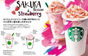 Starbucks Japonya'nın sakura temalı dönemsel içecekleri