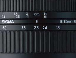 Lunghezza focale variabile da 18 a 50 mm