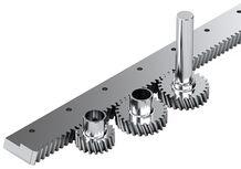 rack and pinion drive for ball rail