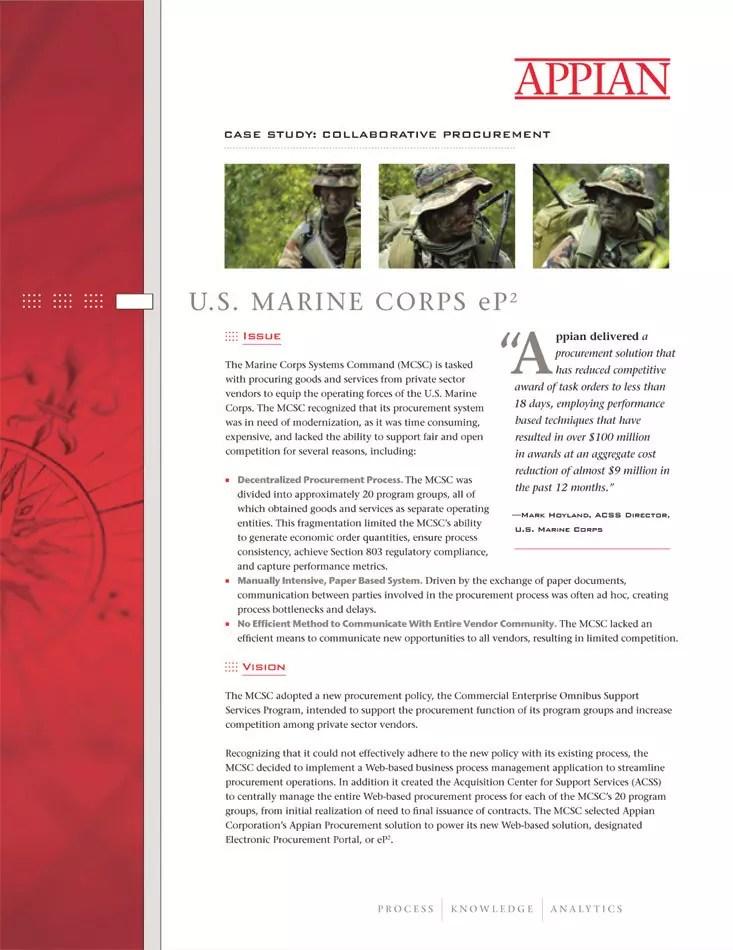 Appian - Marines Product Sheet
