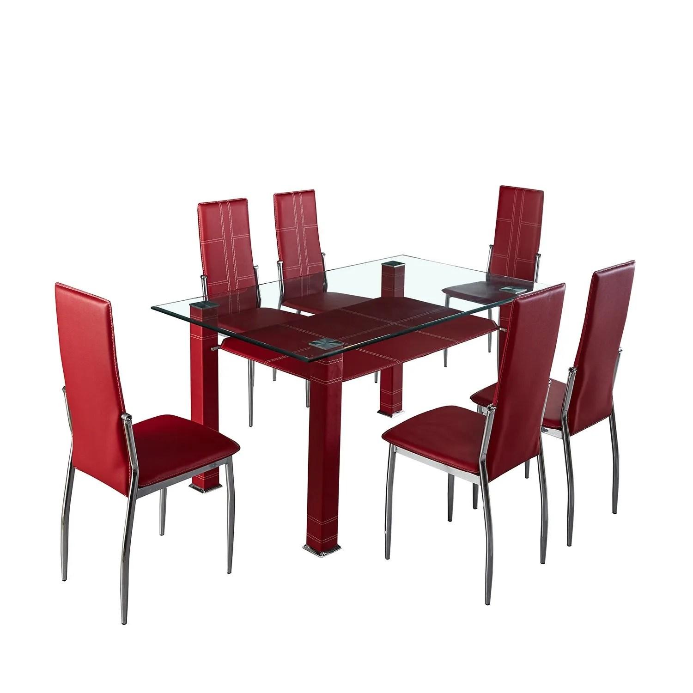 comedor-líbano-elegante-de-acero-con-6-sillas-altas-1