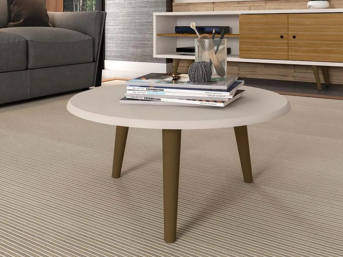 mesa de centro brillante off white 3