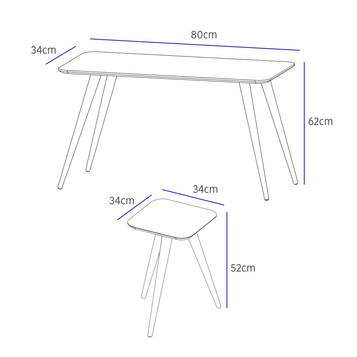 mesas laterales modernas marche 4