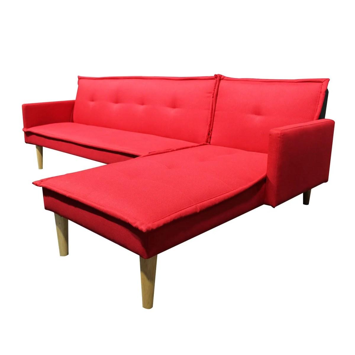 sala esquinada sofá cama independencia rojo 1