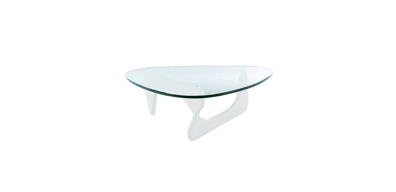 isamu noguchi inspired coffee table white base