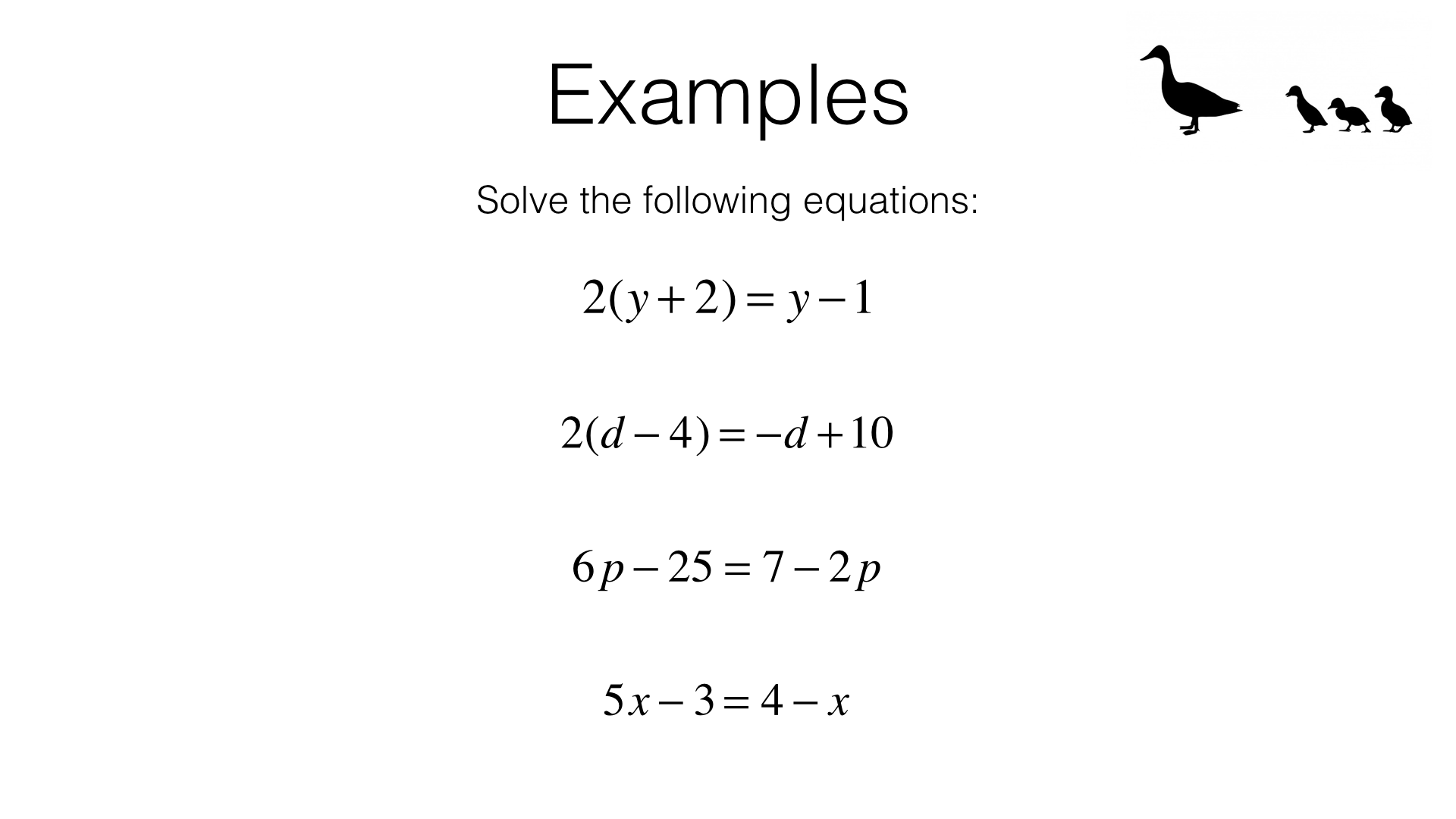 A17b Solving Linear Equations In One Unknown