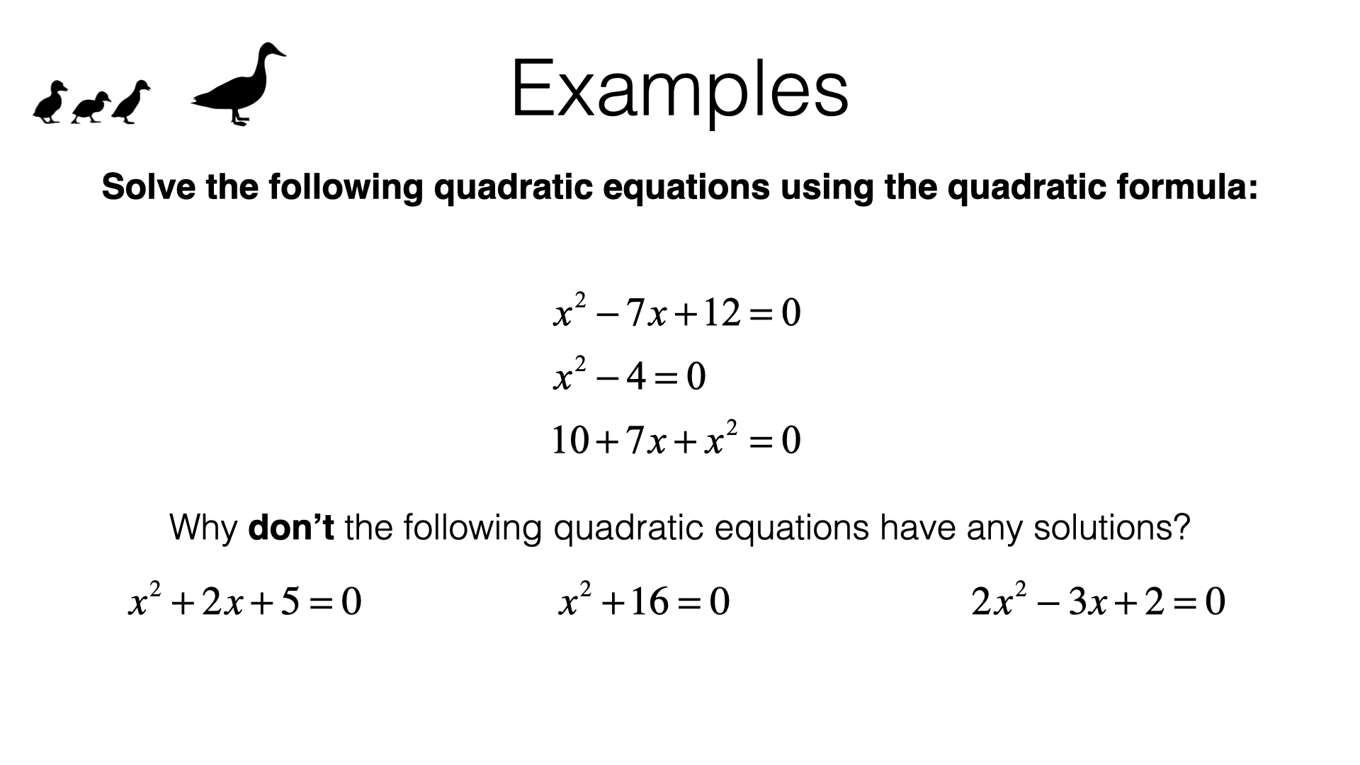 A18c Solving Quadratic Equations Using The Quadratic Formula Bossmaths