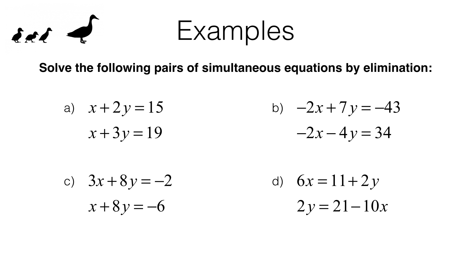 How To Solve Simultaneous Equations With X 2