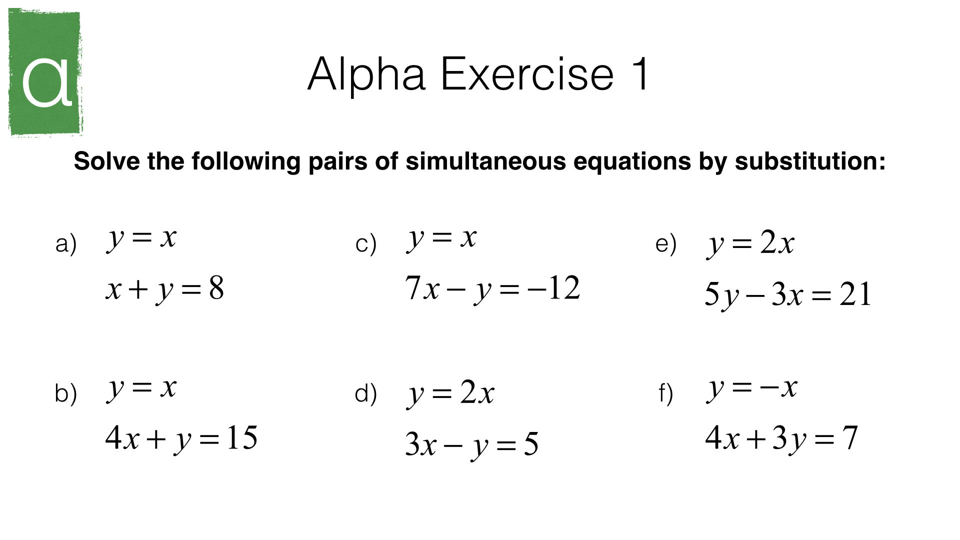 How Do You Solve Simultaneous Equations Using Substitution