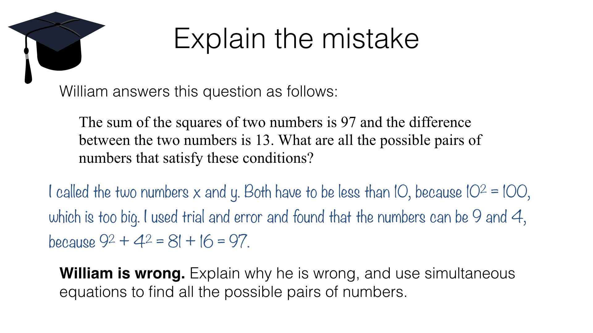 Simultaneous Equation Questions And Answers