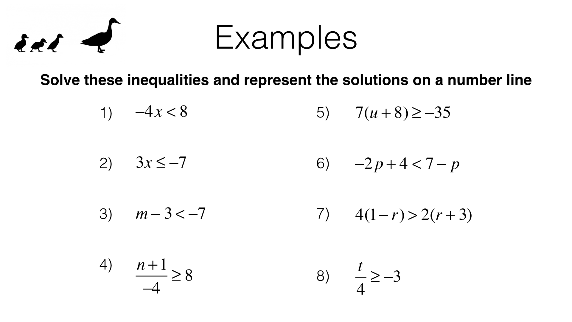 A22a Solving Linear Inequalities In One Variable