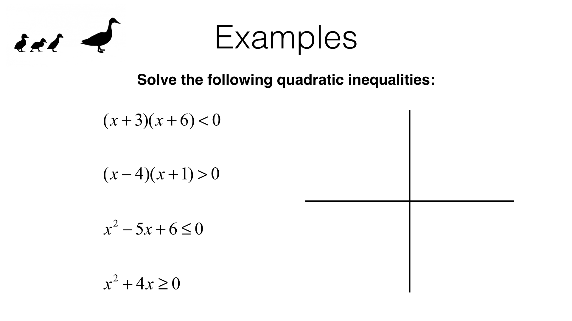 A22c Solving Quadratic Inequalities In One Variable