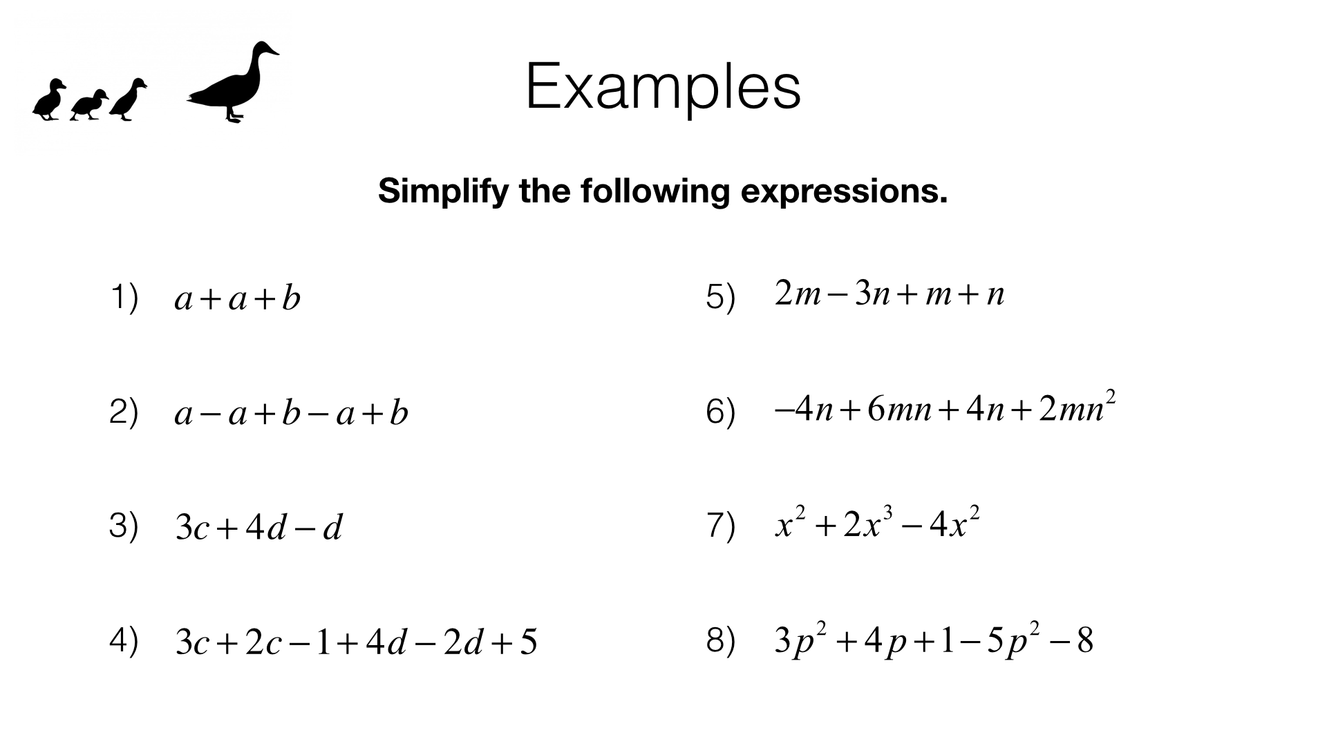 A4a Simplifying And Manipulating Algebraic Expressions