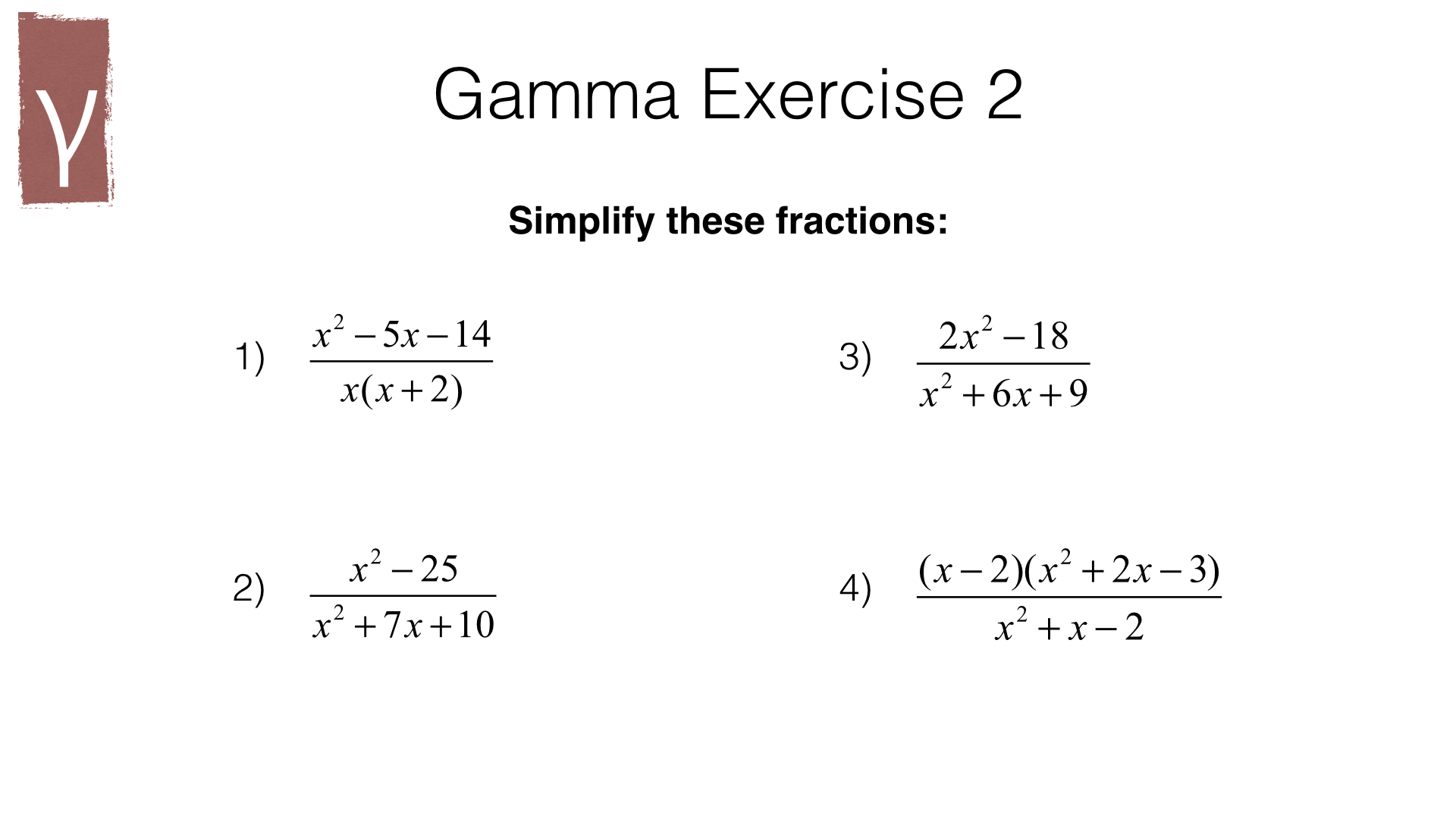 A4f Simplifying Multiplying And Dividing Algebraic Fractions Bossmaths