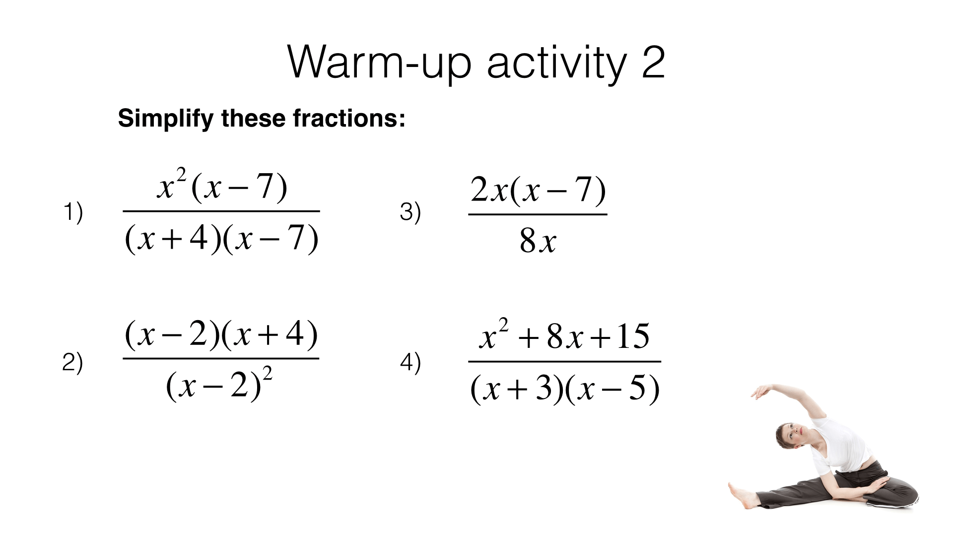 A4g Adding And Subtracting Algebraic Fractions Bossmaths
