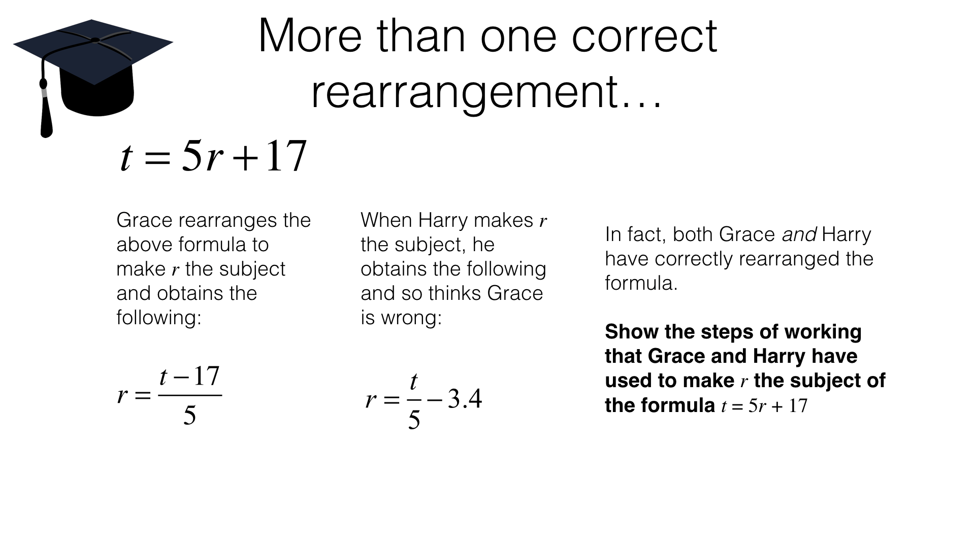 Rearranging Equations Worksheet Hard