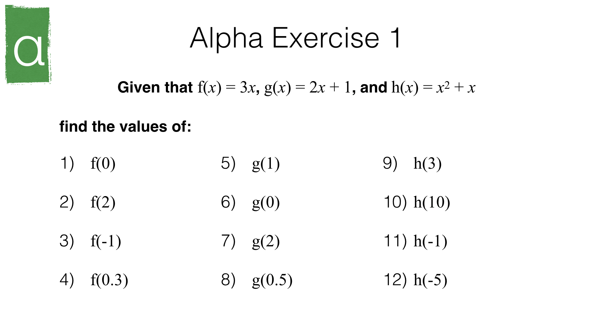 A7a Interpreting Functions And Composite Functions