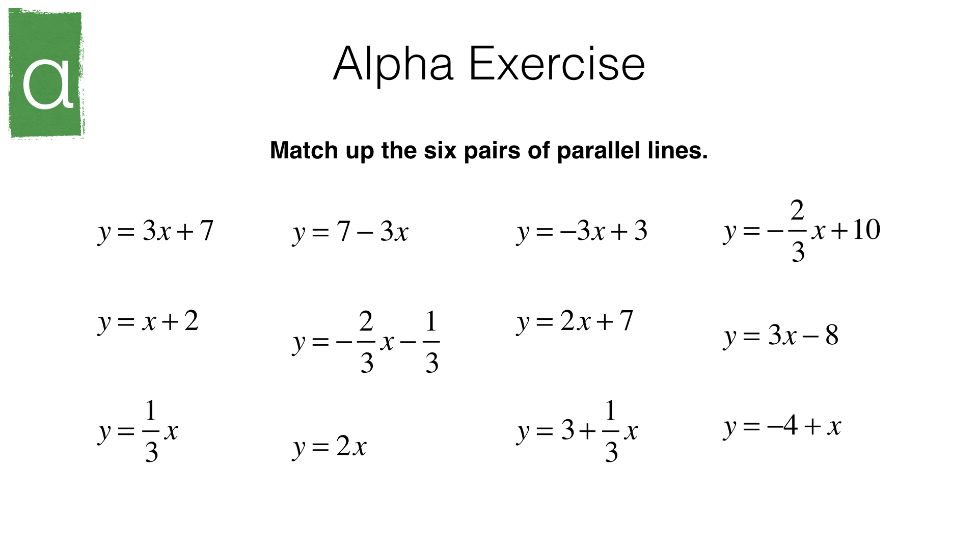 A9b Identifying Parallel And Perpendicular Lines