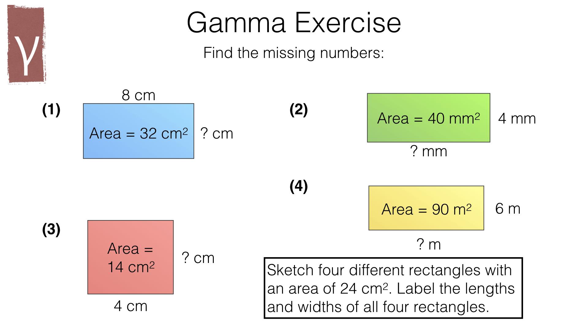 G16a Area Of A Rectangle Bossmaths