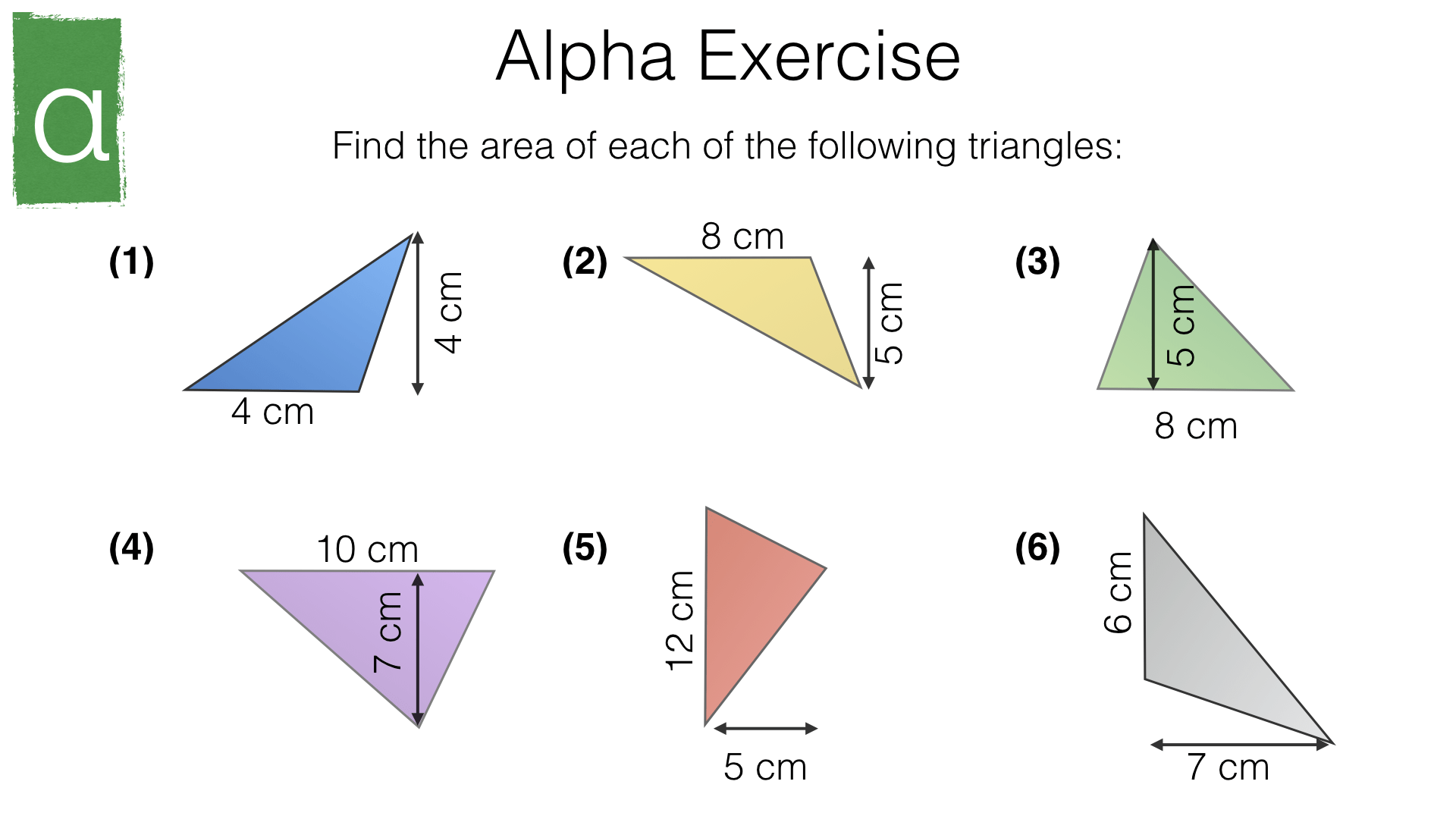 G16c Area Of A Triangle Bossmaths