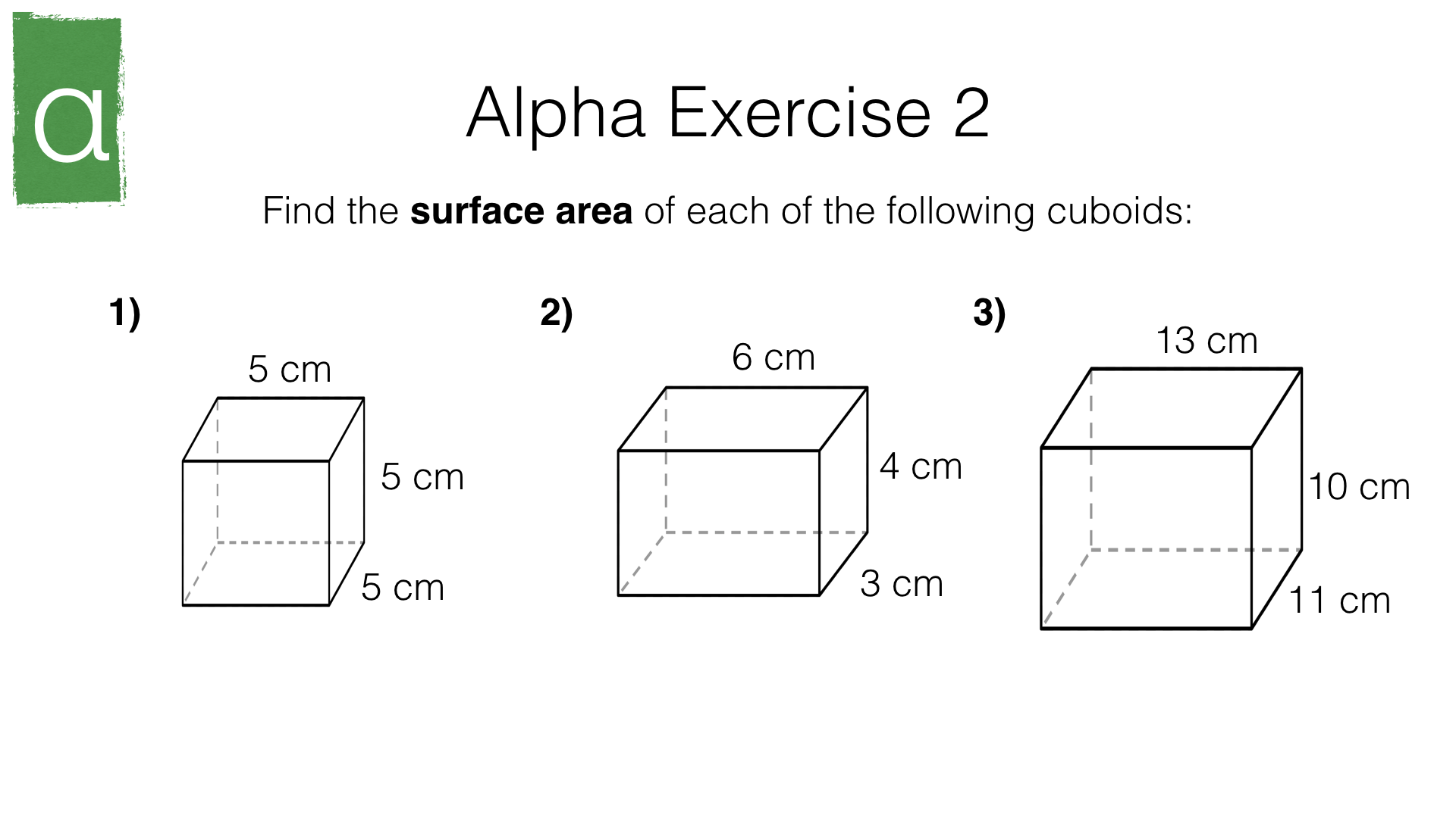 G17f Surface Area Of Cuboids Prisms And Pyramids Bossmaths