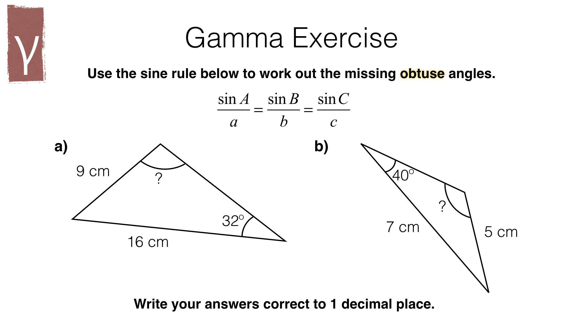 G22a The Sine Rule Bossmaths