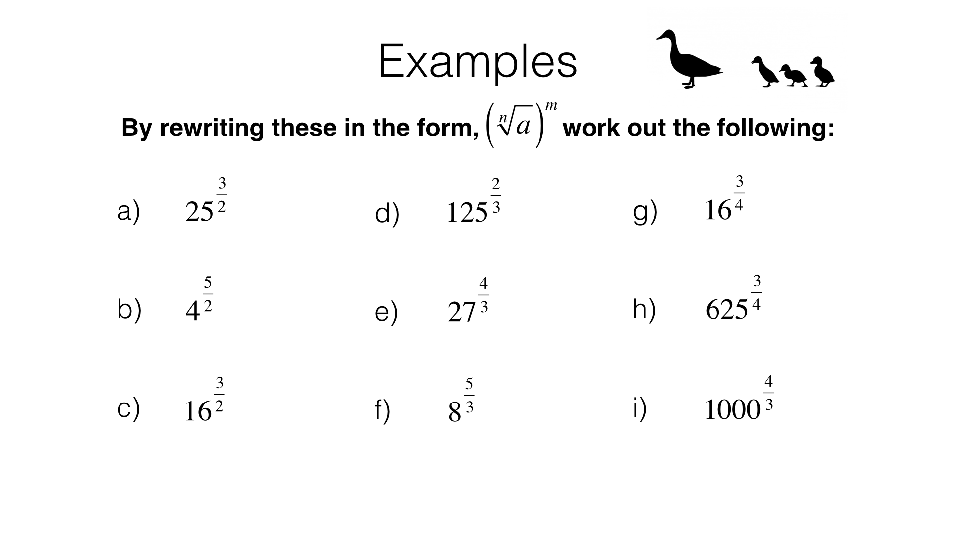 Negative Exponents Worksheets Grade 9