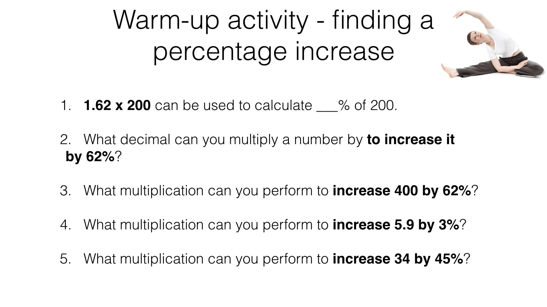 R9d Solving Original Value Problems Involving Percentage