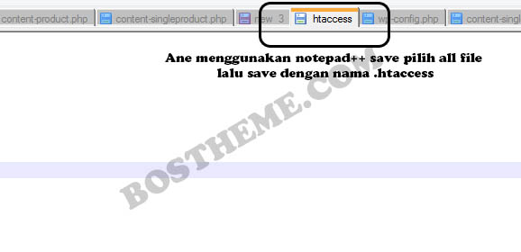 htaccess notepad
