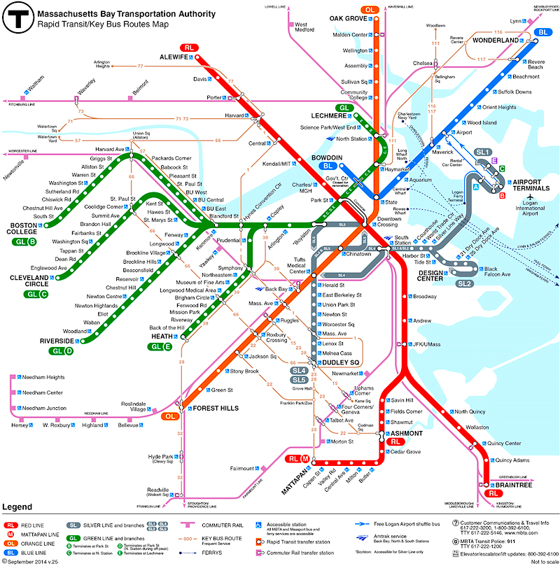 Boston Subway The T Boston Public Transportation
