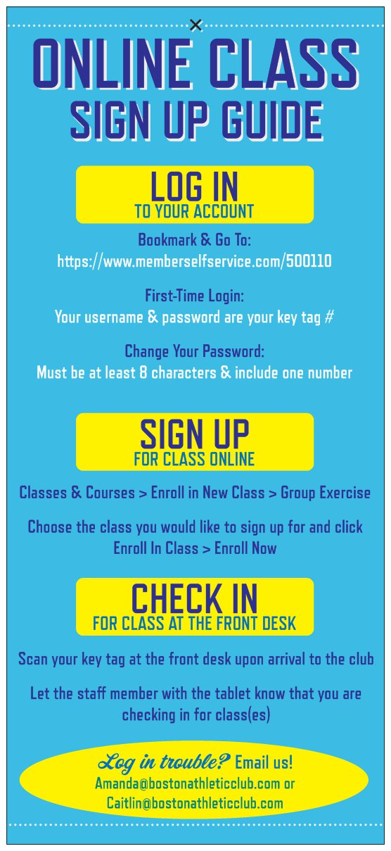 Online Class Sign Up Guide Boston Athletic Club