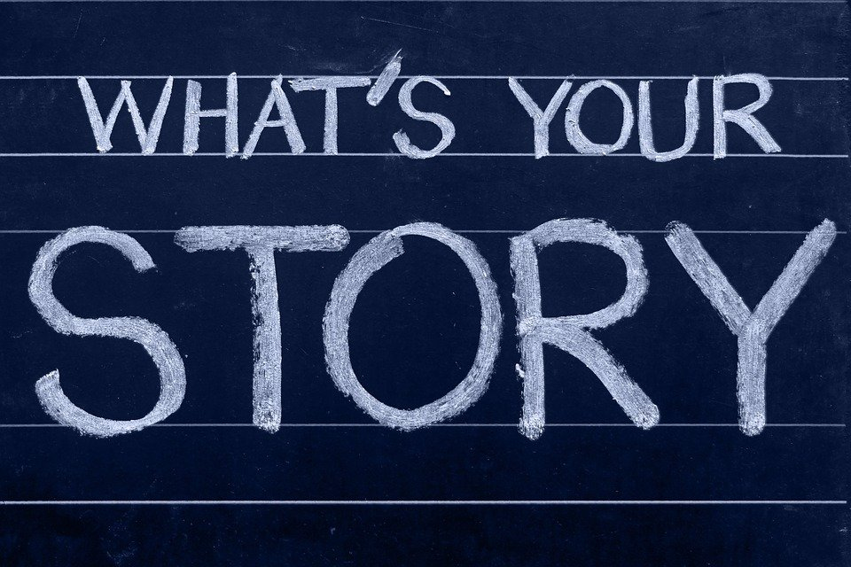 What's your story chalkboard depiction