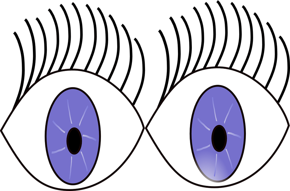 Wide open eyes cartoon
