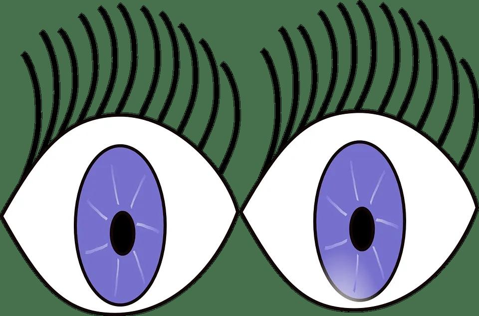Wide open eyes cartoon