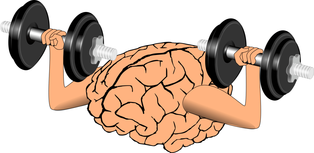 Brain exercise - mental weightlifting