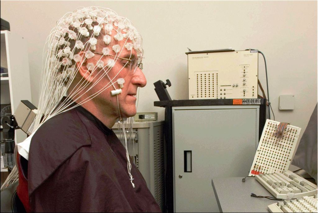 Barry Kerzin meditating with EEG for neuroscience research