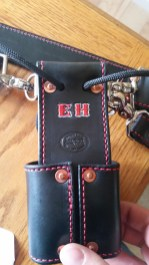 Initials on radio holster