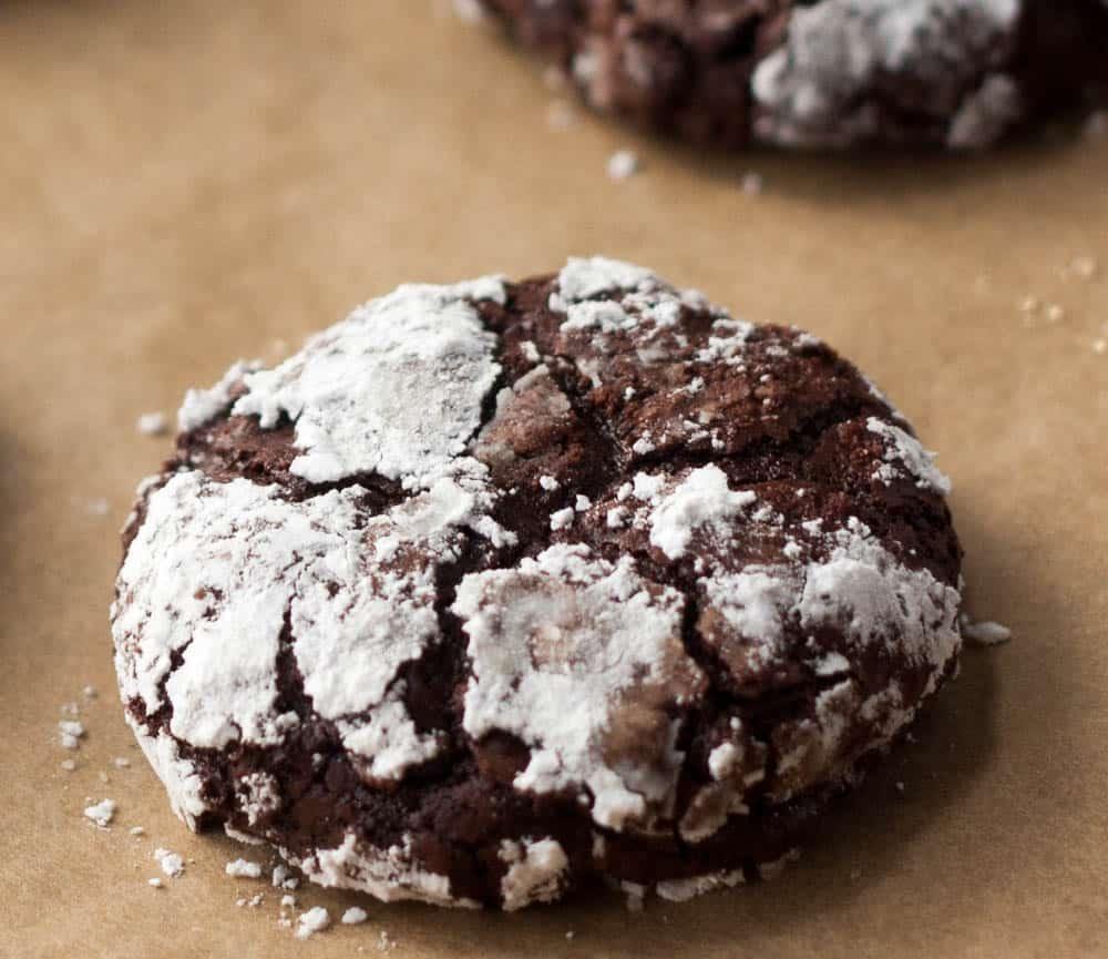Flourless Fudge Cookies - Boston Girl Bakes